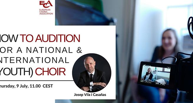 Préparer son audition pour participer à un chœur national/international de jeunes.